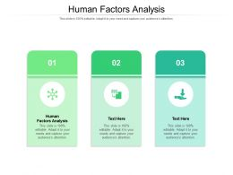 Human Factors Analysis Ppt Powerpoint Presentation Show Aids Cpb