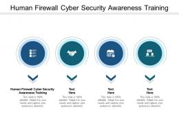 Human Firewall Cyber Security Awareness Training Ppt Powerpoint Presentation Pictures Shapes Cpb