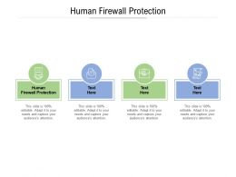 Human Firewall Protection Ppt Powerpoint Presentation Inspiration Icon Cpb