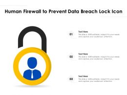 Human Firewall To Prevent Data Breach Lock Icon