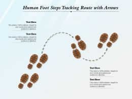 Human Foot Steps Tracking Route With Arrows