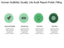 Human Gullibility Quality Life Audit Report Public Filling