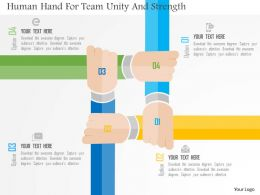 Human Hand For Team Unity And Strength Flat Powerpoint Design