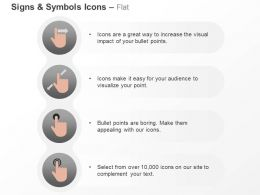 Human Hand Indication Symbols Ppt Icons Graphics