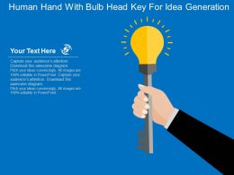 Human Hand With Bulb Head Key For Idea Generation Flat Powerpoint Design