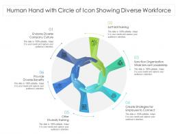 Human Hand With Circle Of Icon Showing Diverse Workforce