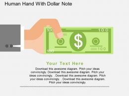 Human Hand With Dollar Note Flat Powerpoint Design