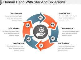 Human Hand With Star And Six Arrows