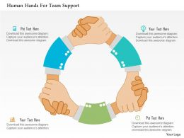 human_hands_for_team_support_flat_powerpoint_design_Slide01