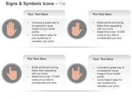 Human Hands Four Different Symbols Ppt Icons Graphics