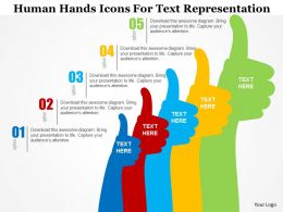 Human Hands Icons For Text Representation Flat Powerpoint Design