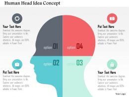 Human Head Idea Concept Flat Powerpoint Design