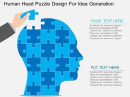 Human Head Puzzle Design For Idea Generation Flat Powerpoint Design