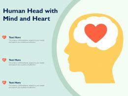 Human Head With Mind And Heart