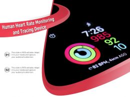 Human Heart Rate Monitoring And Tracing Device