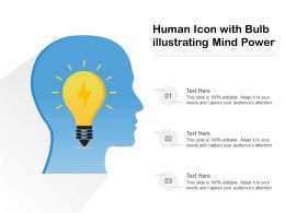 Human Icon With Bulb Illustrating Mind Power