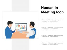 Human In Meeting Icon