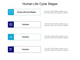 Human Life Cycle Stages Ppt Powerpoint Presentation Inspiration Slide Download Cpb