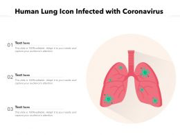 Human Lung Icon Infected With Coronavirus