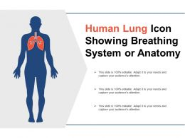 Human Lung Icon Showing Breathing System Or Anatomy