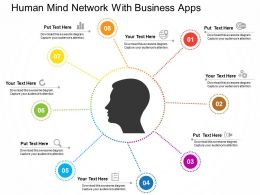human_mind_network_with_business_apps_flat_powerpoint_design_Slide01