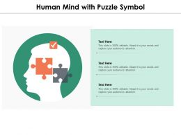 Human Mind With Puzzle Symbol