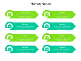 Human Needs Ppt Powerpoint Presentation Slides Shapes Cpb