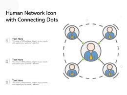 Human Network Icon With Connecting Dots