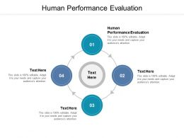 Human Performance Evaluation Ppt Powerpoint Presentation Infographics Cpb
