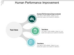 Human Performance Improvement Ppt Powerpoint Presentation Slides Display Cpb