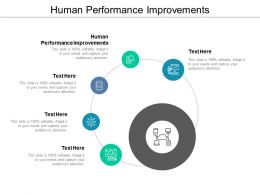 Human Performance Improvements Ppt Powerpoint Presentation Icon Samples Cpb