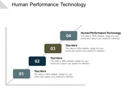 Human Performance Technology Ppt Powerpoint Presentation File Deck Cpb