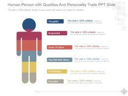 Human Person With Qualities And Personality Traits Ppt Slide