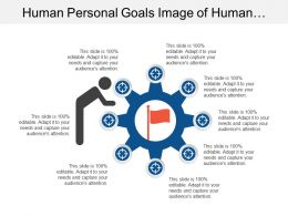 Human Personal Goals Image Of Human With Flag And Targets