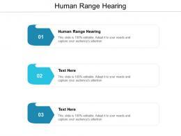 Human Range Hearing Ppt Powerpoint Presentation Ideas Vector Cpb
