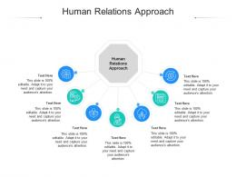 Human Relations Approach Ppt Powerpoint Presentation Slides Structure Cpb