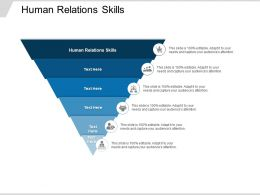 Human Relations Skills Ppt Powerpoint Presentation Infographic Template Template Cpb