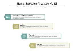 Human Resource Allocation Model Ppt Presentation Professional Topics Cpb