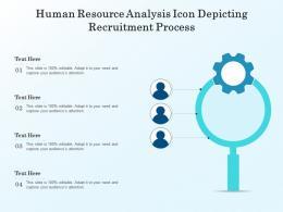 Human Resource Analysis Icon Depicting Recruitment Process