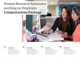 Human Resource Associates Working On Employee Compensation Package