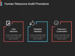 Human Resource Audit Procedure Powerpoint Slide Background
