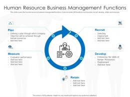 Human Resource Business Management Functions