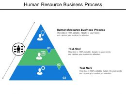 Human Resource Business Process Ppt Powerpoint Presentation Model Shapes Cpb