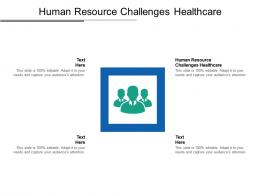Human Resource Challenges Healthcare Ppt Powerpoint Presentation Summary Samples Cpb
