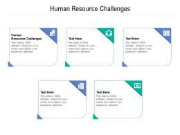 Human Resource Challenges Ppt Powerpoint Presentation Infographic Template Graphic Images Cpb