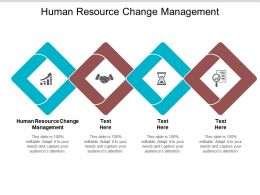 Human Resource Change Management Ppt Powerpoint Presentation File Layout Ideas Cpb
