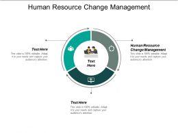 Human Resource Change Management Ppt Powerpoint Presentation Inspiration Skills Cpb