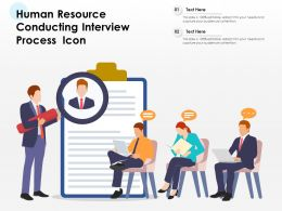 Human Resource Conducting Interview Process Icon