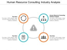 Human Resource Consulting Industry Analysis Ppt Powerpoint Presentation Inspiration Diagrams Cpb
