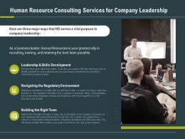 Human Resource Consulting Services For Company Leadership Ppt Slide Graphic